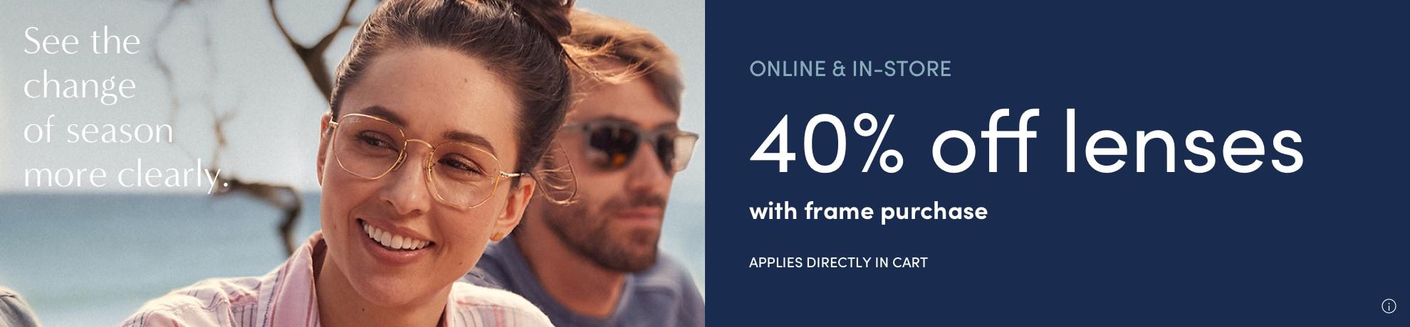 40% off lenses banner